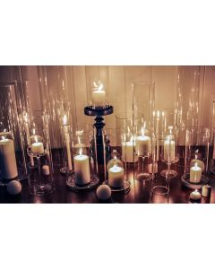 glass tube hurricanes chimney open ended candle holders