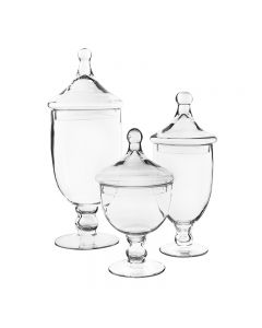 Glass-Apothecary-candy-buffet-jars-gaj111-112-113