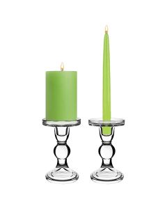 Bubble Glass Pillar Taper Candle Holder H-6
