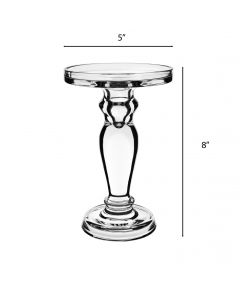 glass pillar candle holders 8 inches wholesale