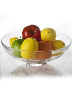 "Glass Footed Fruit Bowl. H-4.5"" D-12"" Terrarium Centerpieces"