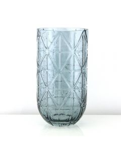 geometric glass vases smoke