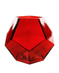 "red 6"" geometric vases"