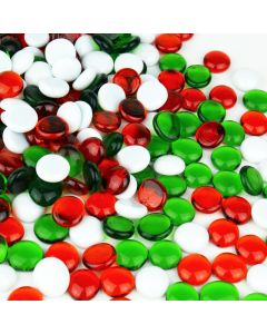 Christmas Glass Flat Marbles
