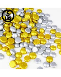 Gold Glass Flat Marbles