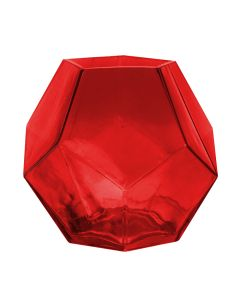 red geometry glass vases