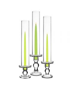 glass candle holder with bottomless chimney tubes cylinders