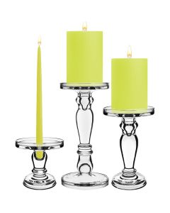glass candle holders pillars taper candles