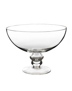 "Glass Footed Compote Fruit Bowl. H-6"" D-8"" Terrarium Kitchen Pedestal Centerpiece"