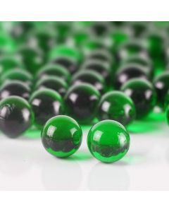 """Vase Filler Glass Round 0.6"""" Marbles Green, 28 lbs"""