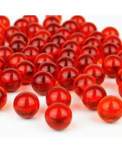 """Vase Filler Glass Round 0.6"""" Marbles Red, 28 lbs"""