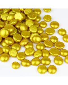 glass gold flat marbles