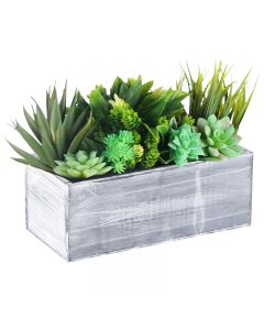 10 inches rectangle wood planter