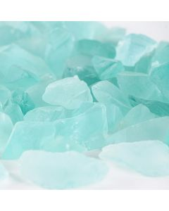 frosted light blue sea glass