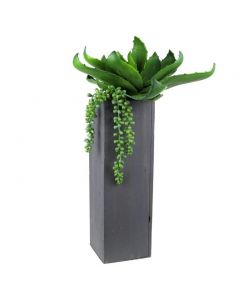 15-inches tall square vases
