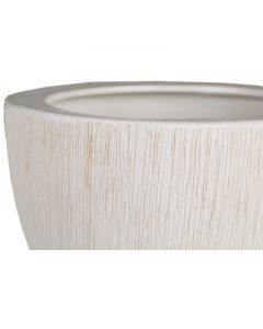 Ceramic Planter Pot Satin White H-7""