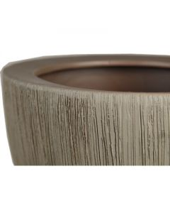 Ceramic Planter Pot Satin Brown. H-5.25""