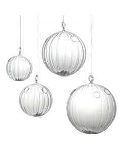 """Hanging Glass Globe H-6"""", Pack of 6"""