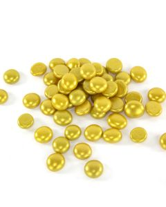 """Vase Filler Glass Flat 0.6"""" Gemstones Gold, 10 lbs, 18 lbs and 28 lbs"""