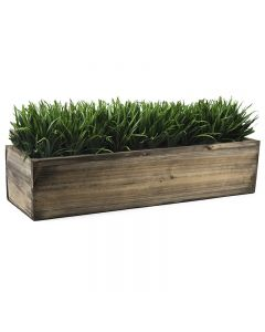 rectangle wood planters with zinc liner