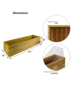unfinished light brown wood planters