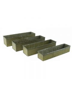 Wholesale Corrugated Zinc Metal Galvanized Planter Set
