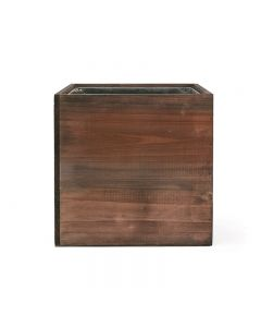 8 inch wooden planter box with zinc liner wholesale pack