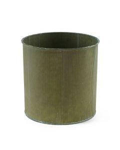Wholesale Corrugated Zinc Metal Galvanized Cylinder Planter Set