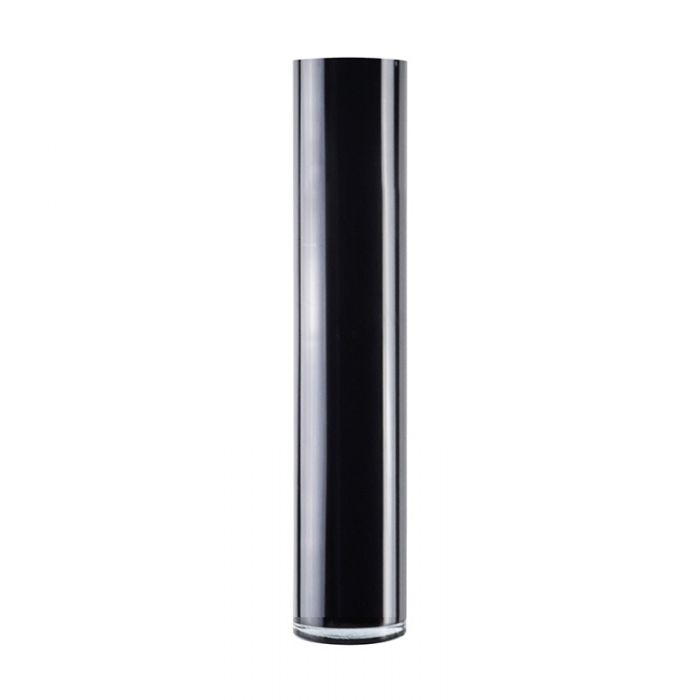 black glass cylinder vases