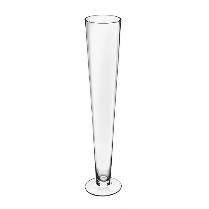 Clear Glass Trumpet Vase 28 inch
