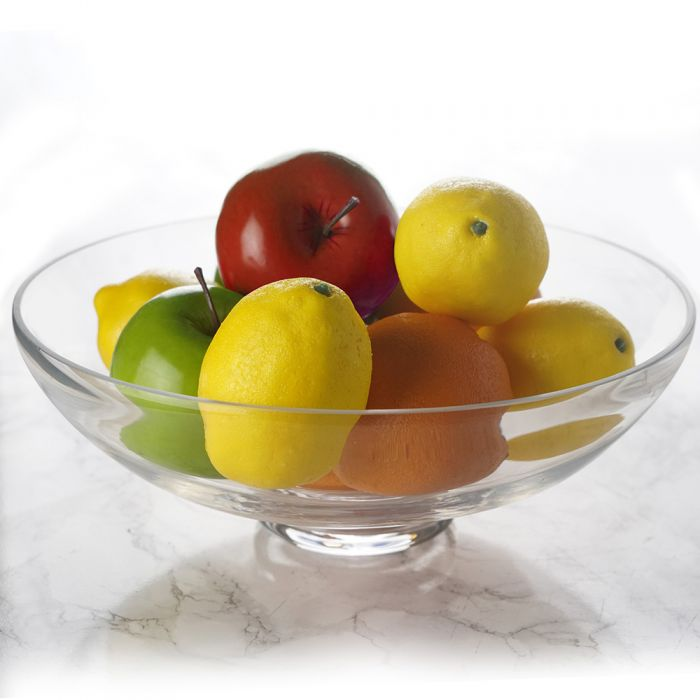 Glass Footed Fruit Bowl. H-4.5