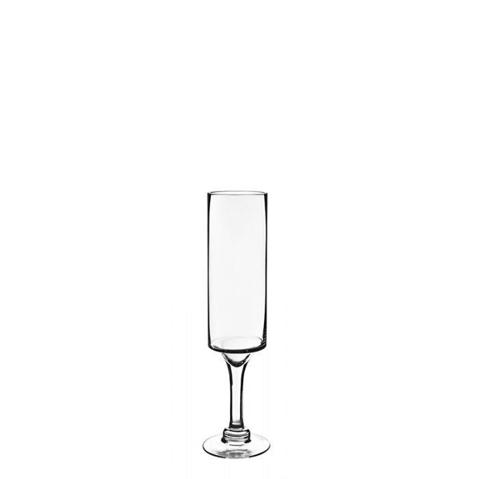 Long Stem Glass Candle Holder H-16 Open-3.5